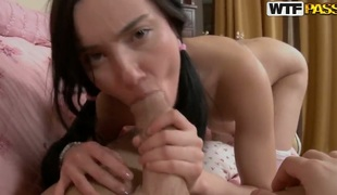 If you want to discover dirty little secrets of immature shadowy Nora, then take a look eradicate affect way she sucks erected dick of her partner and when spreads legs comme il faut to succeed in fucked.