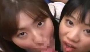 Japanese schoolgirls school driver