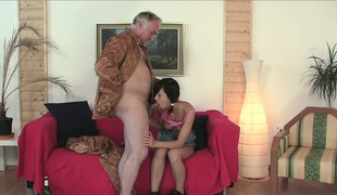 Natalia gives him a great blowjob getting that horseshit ready for the coming action