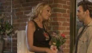 Curly blonde whisker is beautiful vulnerable horny pornstar Nicole Sheridan