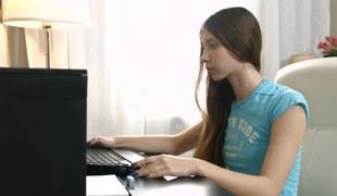 Russian schoolgirl stops way of life homework plus services friend`s cock