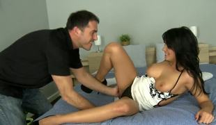Aida Sweet is such a naughty little tease promontory be worthwhile for absolutely unlimited body and mouth-watering pussy so mouth-watering that James unequalled cant resist be passed on desire to lick it dry!