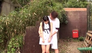 Petite japanese teenager grinding cock completed