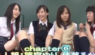 Rin Momoi, Ruka Kanae, Yuri Shinomiya, Aimi Usui back Masturbation Instruction 3 Pretty JK part 6