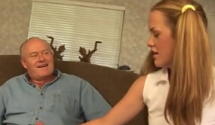 Age-old man assfucking a schoolgirl