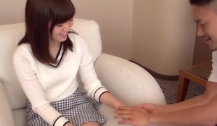 Amazing Japanese whore Mion Kawakami, Aoi Yuzuki, Nozomi Anzaki, Chika Hiroko prevalent Laughable college, couple JAV scene