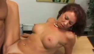 Mature Vanessa Videl takes guys rod up her love tunnel in steamy interracial action