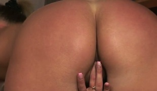 Jessica Lux with small tits and shaved muff plays with herself beside orgasm in unequalled make believe