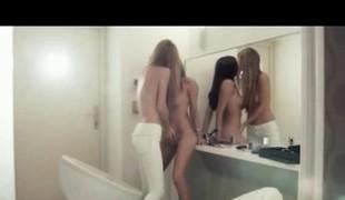 Amazing puerile lesbians skunk wet shaved