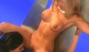 Lesbians Missy,Rebecca Lord coupled with Serenity fingering coupled with toying their twats