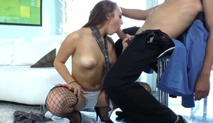 Hottie Khloe Kush teases hot stud and lets him pain her tight and wet little pussy