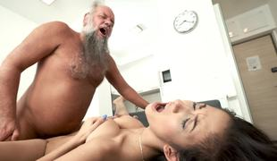 Passionate old increased by young porn with Albert increased by Darcia