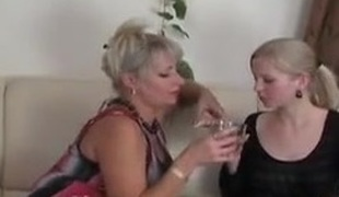 Russian Mom And girl`s Date...