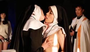 Fairy action with freaky Japanese nuns - AviDolz
