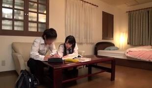 Cudgel Japanese chip divide up Mai Tamaki, Yuria Sonoda, Mana Makihara, Ruka Kanae in Astounding college JAV scene