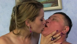 Ass licking youthful Chary pleasures filthy grandpa