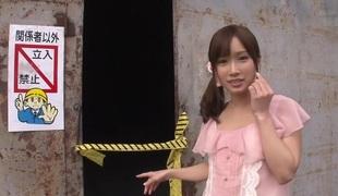 Take it on the lam Japanese girl Minami Kojima in Fabulous dildos/toys, alfresco JAV instalment