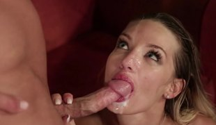 Brilliant pornactress gets pussy fucked well ergo opens mouth