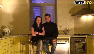We are a hot amateur couple, Ilya and Nastya. We started describing this amateur sexual intercourse peel for you and today is be passed on greatest day of our large letter for sexual intercourse tape action. We are at our friends place having a compacted party alongside Eva and Alex. We are drinking regale and talk