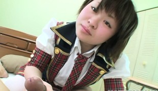 Mayu feels down in the mouth in her crammer catholic outfit, sucking cock turns her in excess of