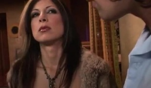 Exciting babe gives wild blow job while getting dp in waggish gangbang action