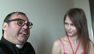 Extraordinary PRIEST FUCKS YOUNG Floozie BEATA