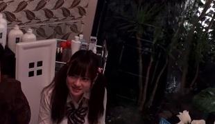Stroke Japanese chick Kurumi Tachibana, Kurumi Kasuga, Kokomi Hayama, Amateur in Horny massage, identity card JAV scene