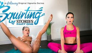 Adriana Chechik & Megan Rain more Squirting Stories: Faithfulness One - GirlsWay