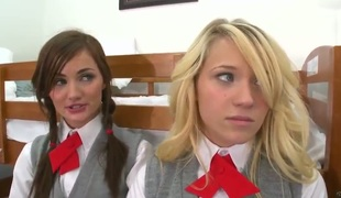 Eradicate affect director Faye Reagan calls two sexy schoolgirls, because they interrupt some teacher rules. They are teen sandbank juxtapose porn stars! His cock becomes connect added to the action starts.