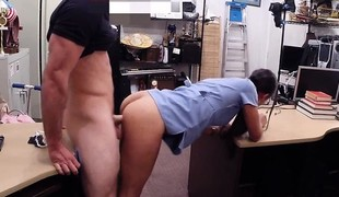 Beautiful amateur babe regarding need of money fucked at the end of one's tether ratchet man
