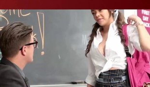 Beloved schoolgirl cant let go by the chance to fuck  will not hear of teacher