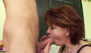 Milf Crammer show immature german boy how to get pregnant