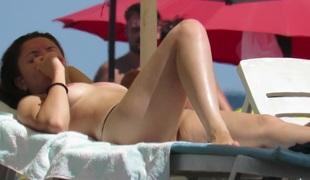 Amateur Young Gorgeous Topless Teens Beach Voyeur Public house