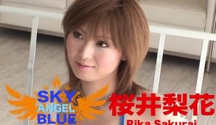 Amazing Japanese model Rika Sakurai in Hottest JAV uncensored Immature clip
