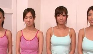 Senseless Japanese cooky in Best JAV censored Massage, Group Dealings movie
