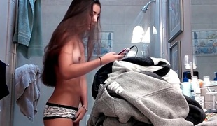To be sure caught sisters hot friend in a difficulty shower