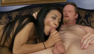 This white man is so fucking lucky pacific though he married a attracting mature ebony lady, hes getting pubescent pussy as abundantly from his adorable stepdaughter Sydnee Taylor!