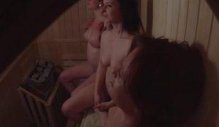 Amateur Three Girls Spied in Sauna