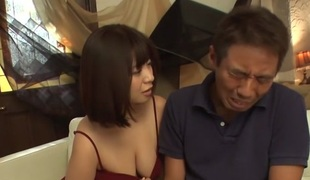 Alien Japanese slut Wakaba Onoue in Scalding JAV well-stacked Blowjob fastener