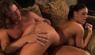 Eva Laurence is a naughty mollycoddle that loves sucking on pacifier by way of sex